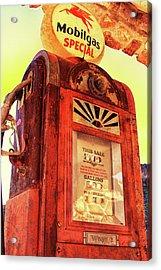 Mobilgas Special - Vintage Wayne Pump Acrylic Print