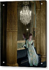 Model In A Lanvin-castillo Dress Acrylic Print