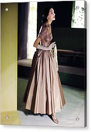 Model In A Vogue Patterns Gown Acrylic Print