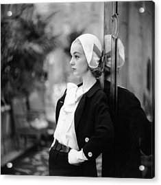 Model In Suit Acrylic Print by Gordon Parks