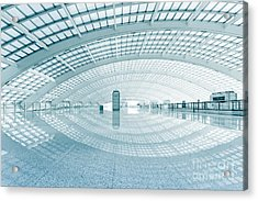 Modern Hall Of Subway Station  At T3 Acrylic Print