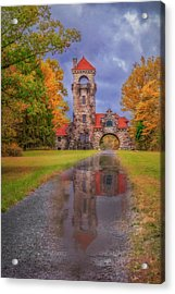 Acrylic Print featuring the photograph Mohonk Preserve Gatehouse  Ny Fall  by Susan Candelario