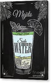 Mojito Cocktail In Vintage Style Acrylic Print