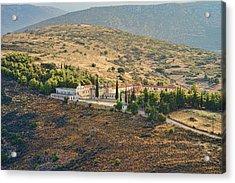 Monastery Agion Anargiron Above Argos Acrylic Print