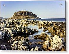 Monemvasia Rock Acrylic Print