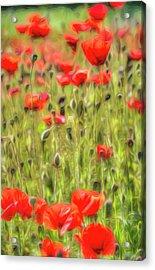 Monet Poppy Meadow Art Acrylic Print