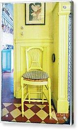 Monet's Kitchen Yellow Chair Acrylic Print