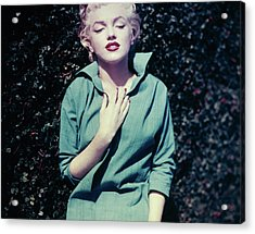 Monroe In Green Acrylic Print by Baron