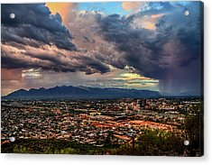 Monsoon Hits Tucson Acrylic Print