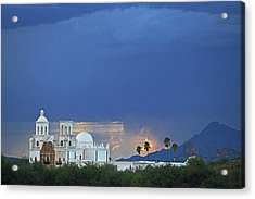 Monsoon Skies Over The Mission Acrylic Print