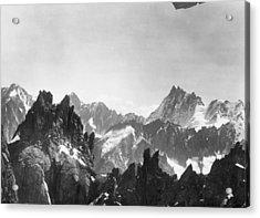 Mont Blanc Peaks Acrylic Print by Three Lions