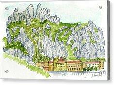Mont Serrat, Spain Acrylic Print