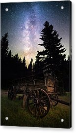 Acrylic Print featuring the photograph Montana Relic / Seeley Lake, Montana  by Nicholas Parker