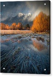 Montana Spring Storm / Bigfork, Montana Acrylic Print