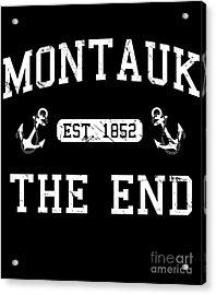 Acrylic Print featuring the digital art Montauk Established 1852 by Flippin Sweet Gear
