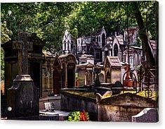 Montmartre Cemetery In Paris, France Acrylic Print