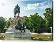 Monument To General Arsenio Martinez Campos In Madrid, Spain Acrylic Print
