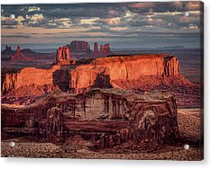 Monument Valley From Hunt's Mesa 3 Acrylic Print