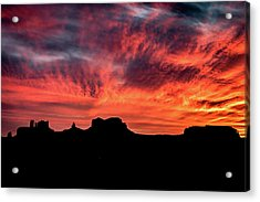 Monument Valley Mile 13 Sunset Acrylic Print