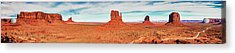 Acrylic Print featuring the photograph Monument Valley Panorama by Andy Crawford