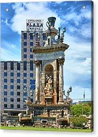 Acrylic Print featuring the photograph Monumental Fountain In Barcelona by Eduardo Jose Accorinti
