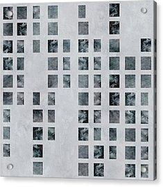 Moody Blues Data Pattern Acrylic Print
