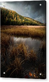 Moody Skies And Rainbows / Whitefish, Montana  Acrylic Print