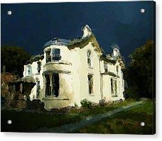 Moody Sky Over Allenbank Painting Acrylic Print