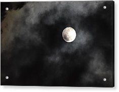 Moon In The Still Of The Night Acrylic Print