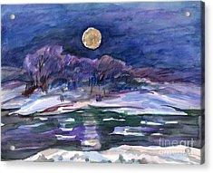 Moon Landscape Acrylic Print