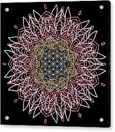 Acrylic Print featuring the digital art Moon Mandala by Bee-Bee Deigner