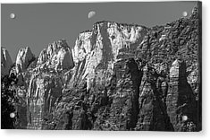 Moon Over Zion Acrylic Print by Joseph Smith