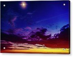 Moon Sky Acrylic Print