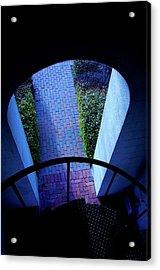Moonlight And Shadows At Furman University Bell Tower Acrylic Print