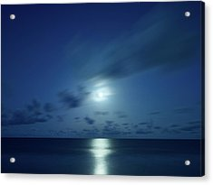 Moonrise Over The Sea Acrylic Print