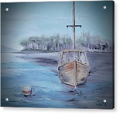 Moored Sailboat Acrylic Print