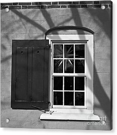 Acrylic Print featuring the photograph Moravian Window by Patrick M Lynch