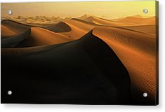 Morning Glow On Dunes Acrylic Print