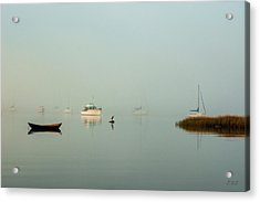 Acrylic Print featuring the photograph Morning Mist Bristol Harbor II by David Gordon