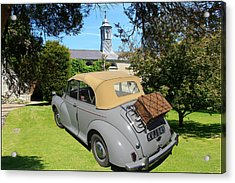 Morris Minor Grey Convertible Acrylic Print