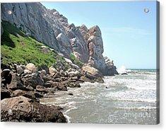 Morro Rock And Ocean Acrylic Print