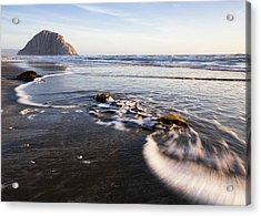 Morro Rock Ebb Tide Acrylic Print