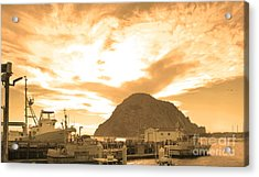 Morro Rock Sky Acrylic Print