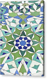 Mosaic Exterior Decorations Of The Hassan II Mosque Acrylic Print