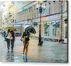 Moscow In The Rain Acrylic Print