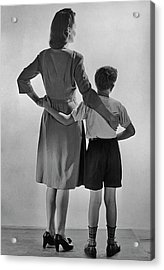 Mother And Son Acrylic Print by Fpg