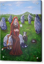 Mother Of Earth Goddess Brigantia Acrylic Print