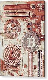 Motherboard Money Acrylic Print