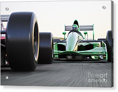 Motor Sports Race Car Competitive Close Acrylic Print