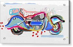 Motorcycle Image Which Consists Of Acrylic Print